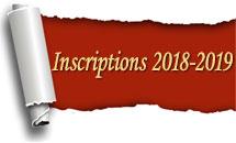Inscriptions année 2018-2019