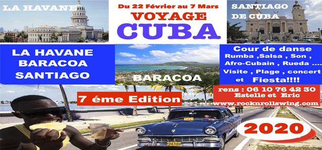 Voyage CUBA 2020 du 22 février au 7 mars!!